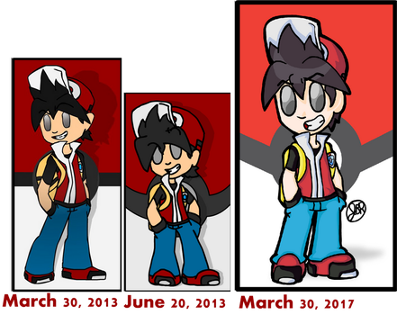 Draw It Again - Pokemon Trainer Red by Magma743