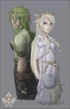 :Collab: CecilxRenny - Love Bound by Lady-Zelda-of-Hyrule
