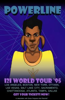 Powerline 121 World Tour '95 Poster by LuxeLibrarian