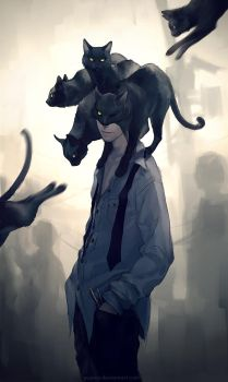The Black Cat by yuumei