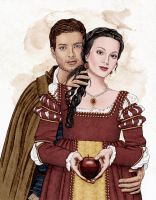 Snow White and Prince by BloodyVoodoo
