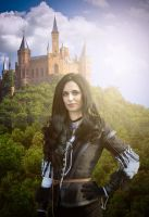 Yennefer and the castle by michal-kara