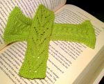 Green bookmarks by KnitLizzy