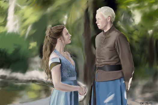 Margaery and Brienne by marvellous-monkey