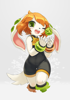 Freedom Planet 2 art experiment of Milla by TysonTan
