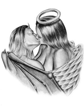 devil and angel kiss 1 by asussman