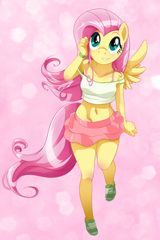 Cute Fluttershy by Liggliluff
