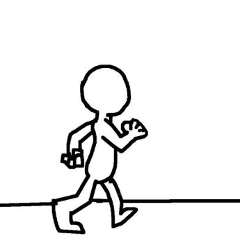 Walking cycle (GIF) by Oopoppy2