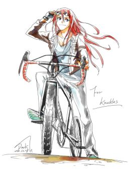 Knuckles and Bike by DarkHHHHHH