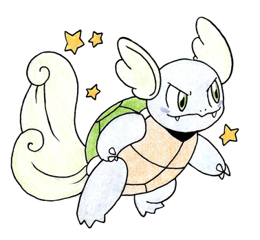 Shiny Wartortle by FrozenFeather