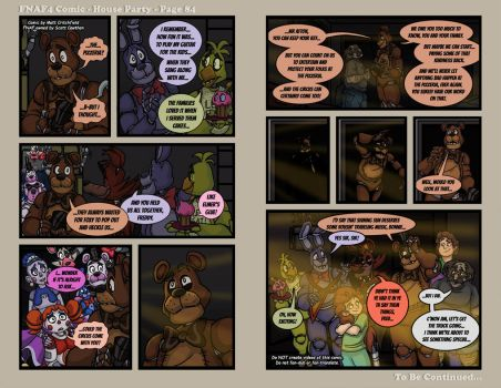 FNAF4 Comic - House Party - Page 84 - 7-30-17 by Mattartist25