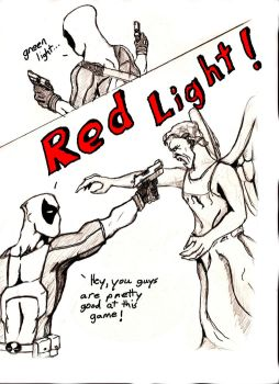 Deadpool vs. Weeping Angel by CoPopeProductions