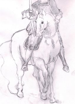 German Horse and Knight (upside down) by lefthoovesdash