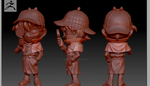 high poly model anime sample by CoolBoysEnt