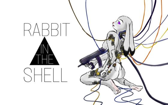 rabbit in the shell by JudyHopps44