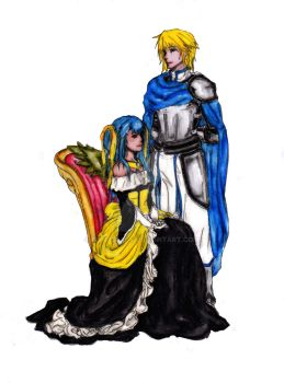 The Princess and Her White Knight - Colored by danceljoy