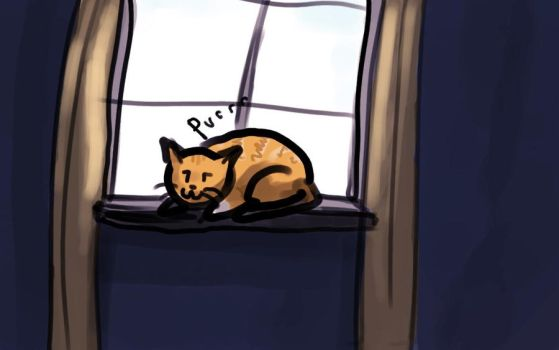 Window Cat by LostThyme