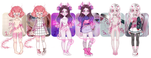 closed Demon Girls Mystery Aesthetic adopt reveal by mellowshy