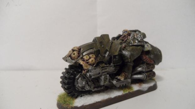 Nurgle Chaos biker champion picture 1 by Dible