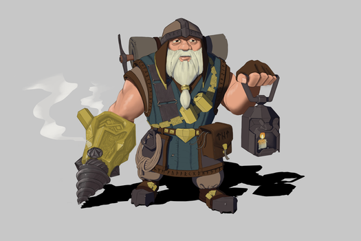 Dwarf miner by MrAncient