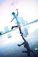 Vocaloid-Dancing in the rain by Scarlett-Y