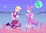 Pixel Chicks! -[Cherry Love and Leah Diederich]- by CherryLove9