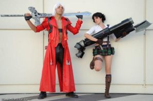 lady and dante cosplay by Hellena88