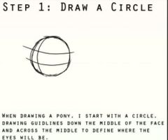 The eight steps to drawing ponies! 1/8 by masterchief80786