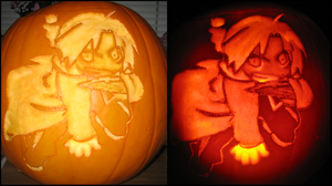 Chibi Edward Elric Pumpkin by SmallChild3