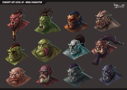ORC faces by rajnno1v2