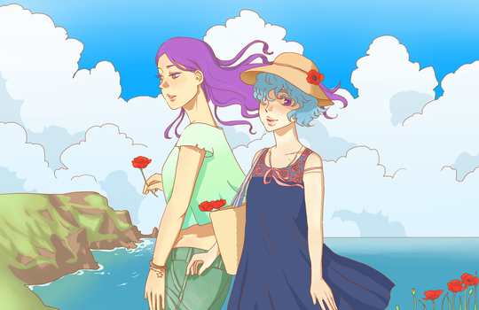 Summer stroll by moonmiracle