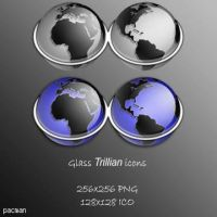 Glass Trillian Icons by pacman121