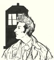 Tennant Doctor-Pentel Sketch by JONATHAN787