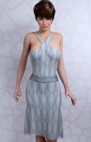 crisscross dress - victoria's secret by SaphireNishi