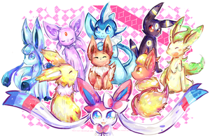 Eeveelutions by Natx-chan
