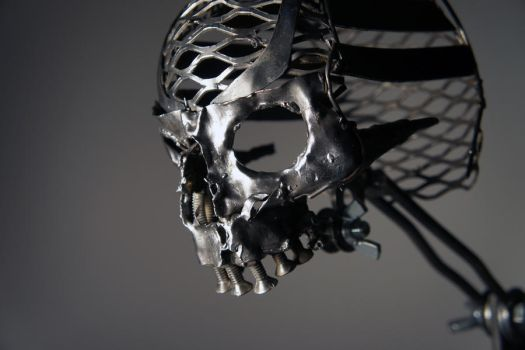 Scrap Metal Skull - 1 by Devin-Francisco