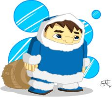 Lonely Ice Climber Color by StephenEusebio