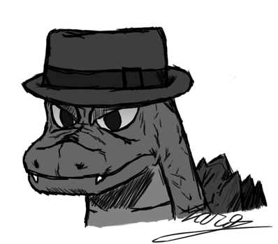 Just Godzilla with a fedora that nobody ask for by JustZaro