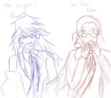 Butler at Day Reaper at Night by AryaTheCookiekage