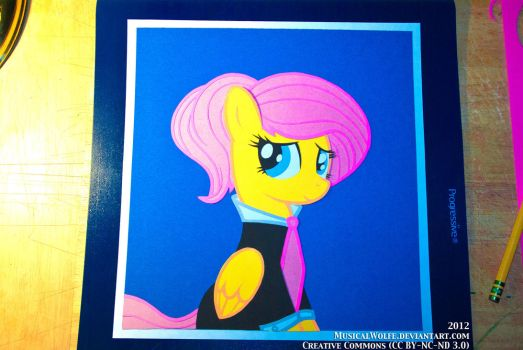 Construction Paper - Fluttershy Suit and Tie by MusicalWolfe