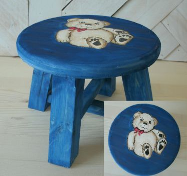 Teddy Bear Mini Stool or Plant Stand by sweetpie2