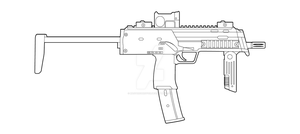 HK MP7 Lineart by MasterChiefFox