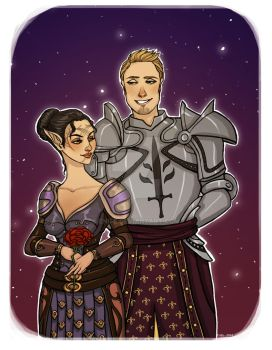 Commission: Elinor and Alistair by Enife