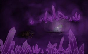 Everfree Crystal Cave by fiendaffliction