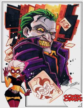 Comic Oasis Cardstock Joker by KidNotorious