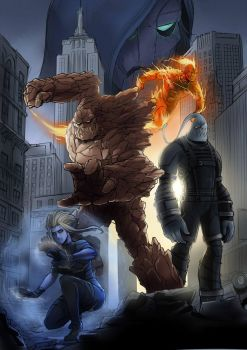 League of Legends X Fantastic Four by Exaxuxer