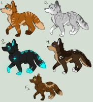 Fantasy Canine Adoptables 2 CLOSED by sketcher216