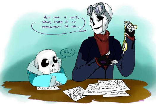 QuantumTale: Father-and-Son moment by perfectshadow06