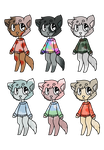 Cheap Adoptable Batch 34 [Theme: Sweaters] by WoshuaDraws