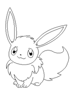 eevee lineart 5 by michy123